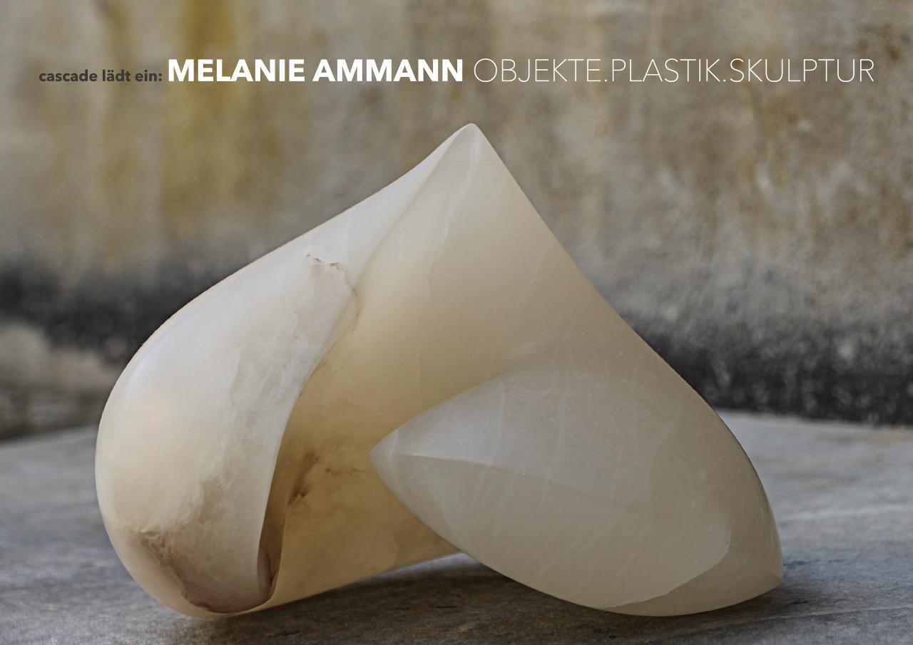 Grafik Design für die Einladungskarte der Bildhauerin Melanie Ammann