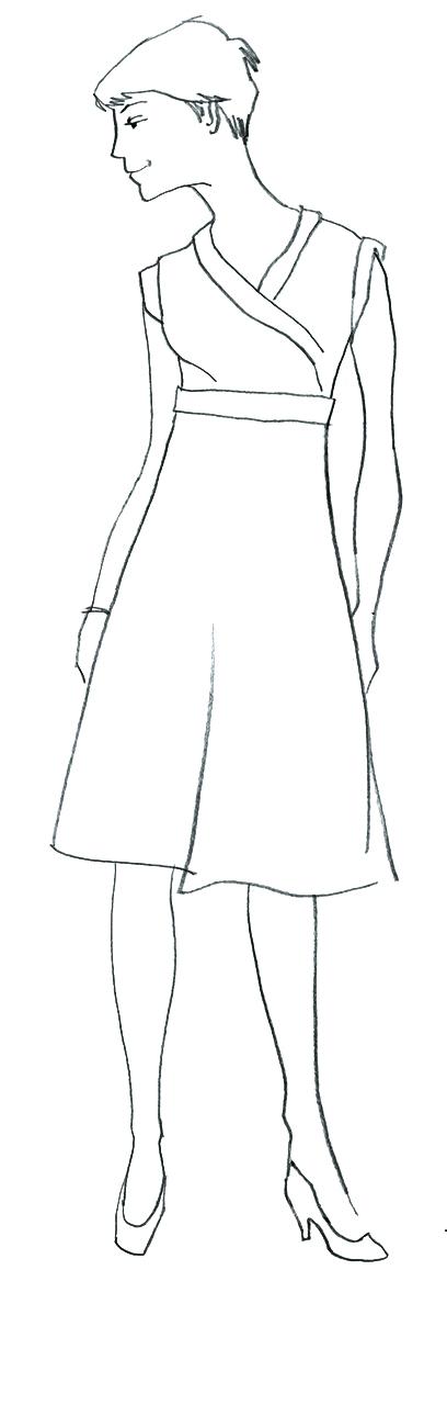 Modezeichnung Kleid