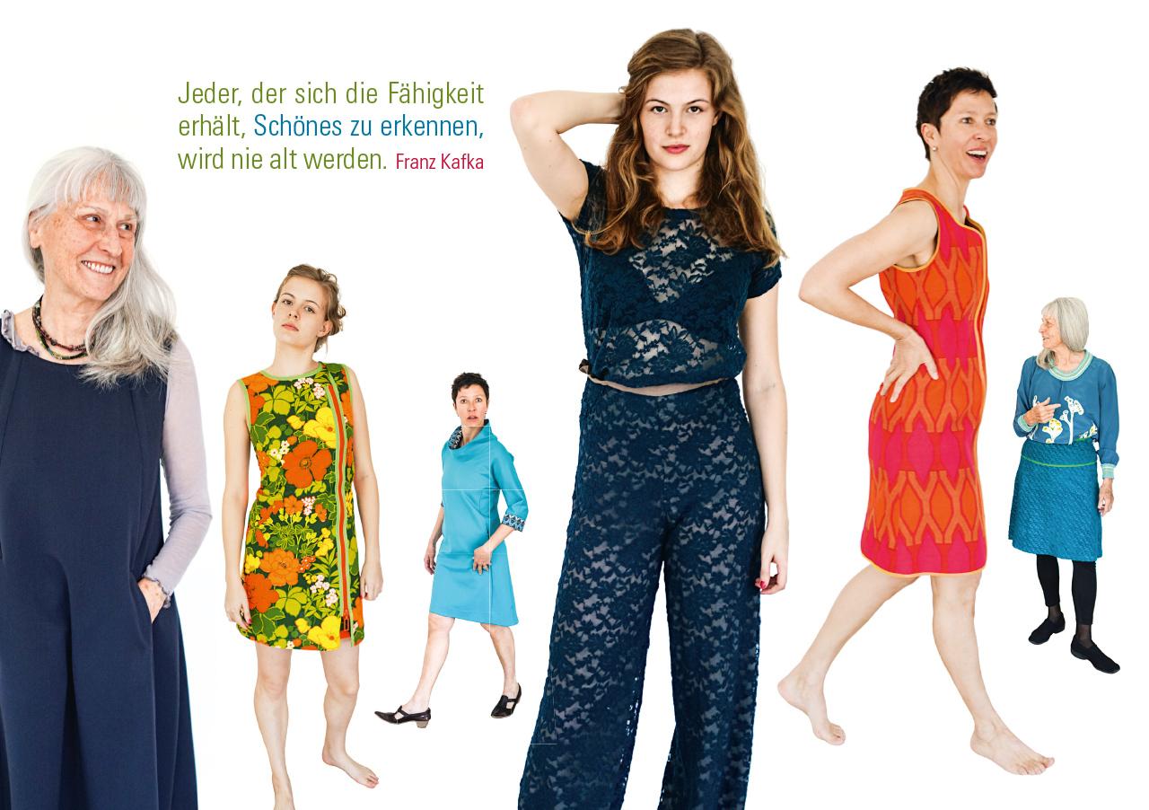 Grafik Design für die Modermacherin Christine Hurst, eine Einladungskarte für ein Modeapéro
